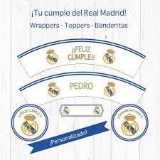 Rona Creaciones Set Imprimible Del Real Madrid Wrappers