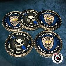 Custom Police, Sheriff Challenge Coins, Thin Blue Line, More
