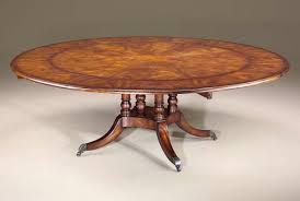 regency circular extending dining table