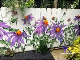 Pin by Ada Davidson on furniture ,chairs etc   Garden mural, Fence art,  Garden fence art
