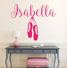 Name Wall Decals Ballet Wall Decal Baby Nursery Wall Decal Etsy