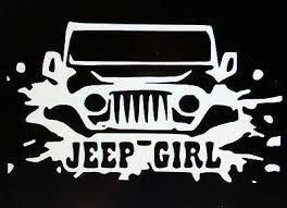 Jeep Girl W Eyelashes Vinyl Decal Wrangler Cherokee 4x4 Suv Car Sticker 5