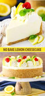 no bake lemon cheesecake recipe easy