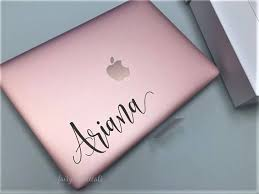 Name Decal Laptop Sticker Personalized Name Decal Girl Name Script Style Letter Fancy Name Decal Monogram Laptop Vinyl Decal Vinyl Tumblers Macbook Decal