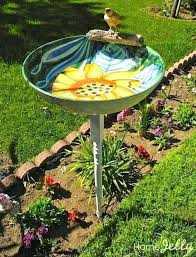 bird bath dish serving baths ceramic