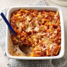 ziti bake recipe taste of home