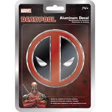 Deadpool Logo Aluminum Car Decal