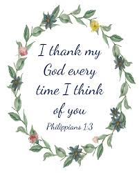 phil scripture quote i thank my god every time i think of