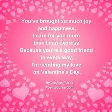 friend valentine poems show them they