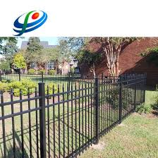 China Black Backyard Metal Picket Wrought Iron Fence For Garden China Metal Fence And Wrought Iron Fence Price