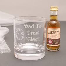 personalised dads dram o clock gift set