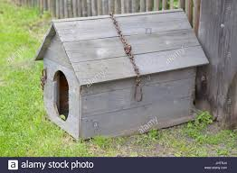 Wooden Doghouse High Resolution Stock Photography And Images Alamy