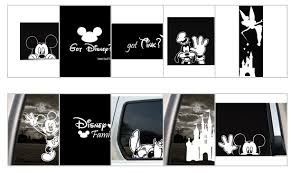 Disney Car Clings For Cheap I Wonder If I Could Use It On Waterbottles Too Disney Mom Disney Decals Disney Decor