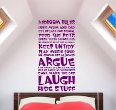 Kid Bedroom Rules Wall Art Decal Decor Vinyl Quote Funny Sticker Children Ebay