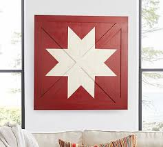 barn door star wall art pottery barn