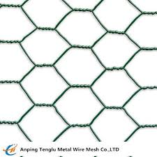 Green Pvc Coated Chicken Wire Hexagonal Hole 3 8 To 4 Mesh For Poultry Fence For Sale Wire Fencing Manufacturer From China 107508750