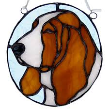 stained glass dog breeds trophies