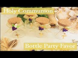 first holy communion bottle party favor