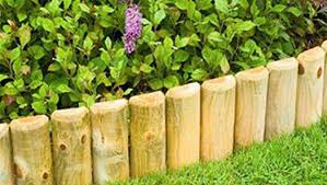 Log Roll Edging Wooden Lawn Edging Lawn Garden Edging Homebase