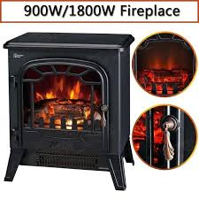 electric fireplace logs with heat stone