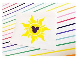 Tangled Sun Symbol Disney Inspired Vinyl Decal Sticker