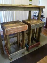 industrial work wooden bar stools