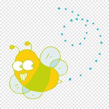 Abeja De Dibujos Animados De Insectos Miel Abeja Feliz