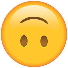 what does the upside down face emoji