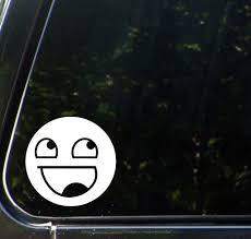 The Decal Store Com By Yadda Yadda Design Co Car Epic Smiley Face Car Vinyl Decal Sticker 4 5 W X 4 5 H Colo