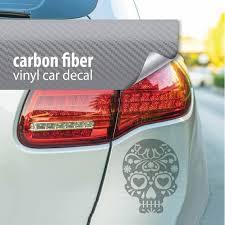 Skull Decal Car Decal Carbon Fiber Bumper Sticker Horror Etsy