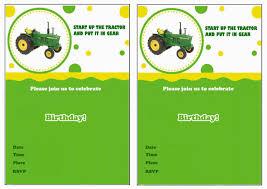 John Deer Tractor Tarjetas De Feliz Cumpleanos Invitaciones De