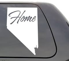 Nevada Decal Nevada Nv Decal Home State Decal State Decal Etsy