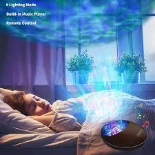 Ocean Wave Projector Light Black Voice Control Bluetooth Speaker Elecstars Com