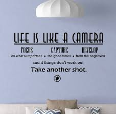 Life Is Like A Camera Wall Decal Photography Sign Focus Poster Etsy