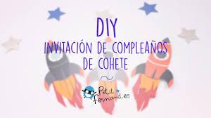 Invitacion De Cumpleanos Cohete Petit Fernand Youtube