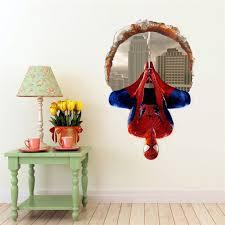 Brdroom Removable Super Hero Spider Man Art Wall Sticker Decals Kids Baby Nursery Room Vinyl Decor Diy 60 90cm Walmart Com Walmart Com