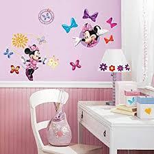 Disney Mickey Friends Minnie Bow Tique Wall Decal Cutouts Childrens Wall Decor Amazon Com
