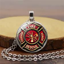fire fighter pendant fireman jewelry