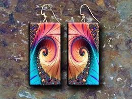 Adriana Allen: Fractals art polymer clay earrings by ...