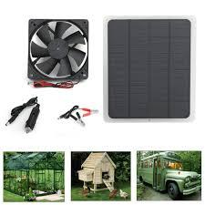 10w solar powered usb fan air vent