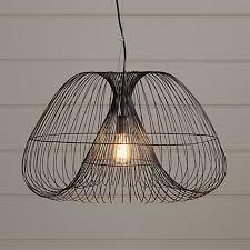 cosmo brass wire pendant light
