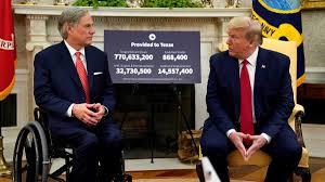 President Donald Trump applauds Gov. Greg Abbott's handling of Texas  reopening during White House visit