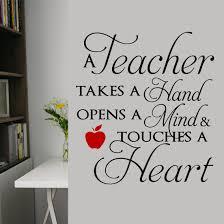 School Classroom Wall Decal A Teacher Touches A Heart