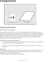 3002769 Indoor Shields Plus User Manual Radio Systems