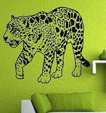 Amazon Com Leopard Jaguar Wall Vinyl Decal 22 X 19 2 Choose Color Home Kitchen