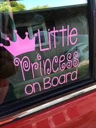 Little Princess On Board Baby Girl Car Decal Princess Decal Baby Girl Car Car Decals