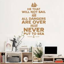 Sailing Quote Ship Navy Wall Sticker Living Room Decor Decal Vintage Decoration Quotes Wall Art Mural Tv Background Decals Lc152 Wall Sticker Wall Sticker Living Roomroom Decoration Aliexpress