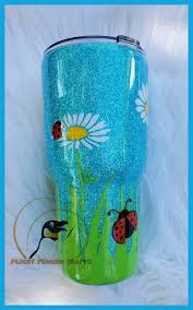 Daisy And Ladybug Tumbler Etsy Tumbler Designs Glitter Tumbler Cups Yeti Cup Designs