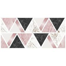 Shop Rose Gold Marble Triangles Wall Sticker Overstock 29901486