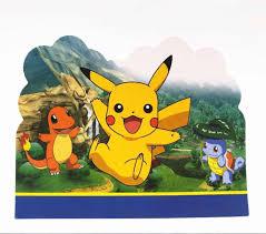 10 Unids Bolsa Pokemon Go Tarjeta De Invitacion Fiesta Para Nino